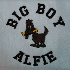 Personalised Tailor Made Fleece Dog Blanket From Small to Giant Breeds