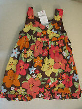 NWT/NWD Gymboree CLEARANCE! ALOHA SUNSHINE sz 2T 3T brown floral dress ruffle