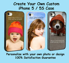 Custom iPhone 5 or 5s Personalized PHOTO Plastic/Rubber Case Cover Picture Best