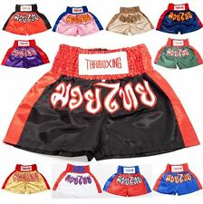 Muay Thai Boxing Shorts Kick Boxing Trunks Satin Size M-3XL