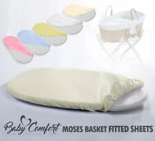 MOSES BASKET FITTED SHEET / BABY JERSEY 100% COTTON OVAL SHAPE SHEETS