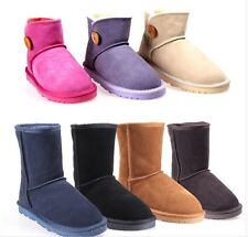 HOT Womens Ankle Boots Winter Warm Thicken Shoes Snow Boots Low help
