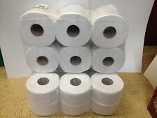 12 x Quality Mini Jumbo Toilet Tissue Rolls 130M 2 PLY core 60mm or 76mm