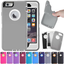 Armor Hybrid Rugged Defender High Impact Combo Case Cover For iPhone 6 6S Plus