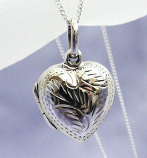 925 Sterling Silver heart shaped locket & necklace with free gift set