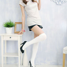 Fashion Japan Style Over The Knee Socks Thigh High Cotton Stockings Thinner