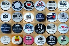 PHOTOGRAPHY Button Badge 25mm / 1 inch - PHOTOGRAPHER - CAMERA - HUMOUR - SLOGAN