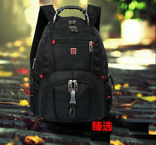 "16"" Men Swiss Army Laptop Computer Backpack Bag Travel School Fashion Casual Hot"
