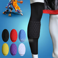 Honeycomb Pad Crashproof Antislip Basketball Leg Knee Protector Gear Colorful