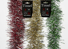 NEW DELUXE TINSEL SNOW CHRISTMAS FESTIVE TREE DECORATIONS XMAS COLOURFUL LONG