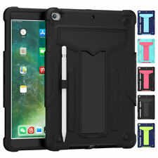 Hybrid Heavy Duty Hard Impact Kickstand Shockproof Military Case Cover for iPad