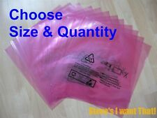 Pink Anti Static Bag Static Bag Poly Bag 2mil CHOOSE SIZE & QUANTITY