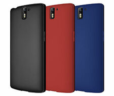 Diztronic Full Matte Black, Red or Blue Flexible TPU Case Cover for OnePlus One