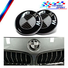 BMW 2 LOGOS EMBLEMAS CARBONO CAPO MALETERO 2 FRONT AND TRUNK REAL CARBON EMBLEM