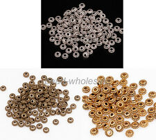 100Pcs Tibetan Silver Wheel Gear Spacer Beads Findings ,6mm