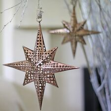 1 x Hanging Moroccan Star Decorations (bronze) - Christmas Decorations