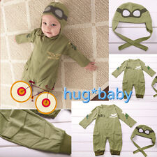 Astronauts Baby Boy Pilot Military Air Force Halloween Party Costume Outfit Sets