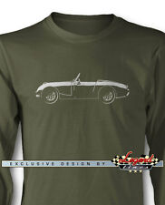 Austin Healey Sprite MKI Roadster Long Sleeves T-Shirt - Multiple Colors & Sizes
