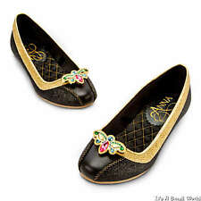 Disney Store Anna Deluxe Coronation Costume Black Shoes 9 10 11 12 13 1 2 3 NWT