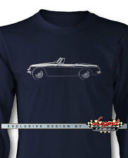 MG MGB Convertible Roadster Long Sleeves T-Shirt - Multiple Colors and Sizes
