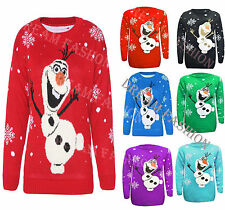 KIDS CHILDREN GIRLS BOYS OLAF FROZEN CHRISTMAS JUMPER SWEATER age 3/12