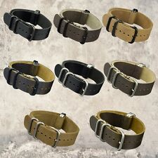 20/22/24mm Band Width Distressed Genuine Leather PVD Diver Wrist Watch Strap
