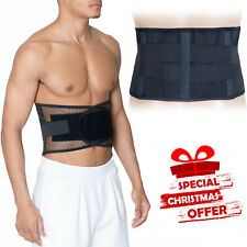 Back Support Belt Lower Lumbar Brace Waist Backache Pain Injury Relief M/L/XL