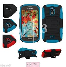 For MetroPCS Samsung GALAXY LIGHT Hybrid Impact Rubber Hard Protector Case Cover