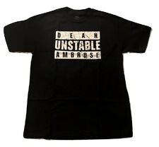 Dean Ambrose UNSTABLE AMBROSE Black WWE Authentic T-Shirt OFFCIAL LICENSED