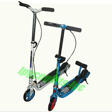 Kids/Adult Two Wheel Kick Scooter Bikecycle with Accelator Pedal Foldable