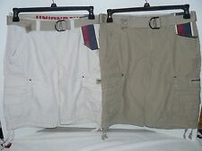 NWT UNIONBAY Young Mens Cargo Shorts With Belt Desert and Stone All sizes