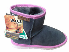 Australian Made Sheepskin Classic Mini Lady UGG Boots Grey/ Pink Colour
