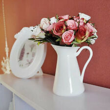 European French Style Decor White Ceramic Jug Flower Vase Pitcher Porcelain Pot