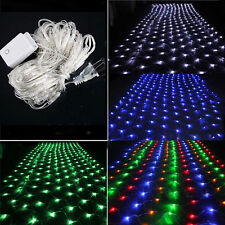 120 LED 110V Net Fairy String Light Mesh Lighting Xmas Party Decor Multi-color