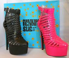 Penny Sue Vengeance  Strappy Cage Ankle Boot Platform Shoe NIB !