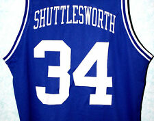 JESUS SHUTTLESWORTH #34 LINCOLN HE GOT GAME MOVIE JERSEY BLUE  NEW SEWN ANY SIZE