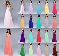 Long Chiffon Wedding Formal Evening Ball Gown Party Prom Bridesmaid Dresses 6-18