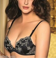 LISE CHARMEL SWINGING DECO PUSH UP / BRA NOIR ECUME ACC3581