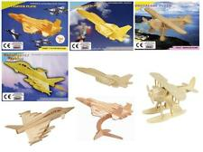 4 Novelty 3D Jigsaw Wooden Fighter Planes Models Puzzles Kids Christmas Gift