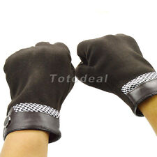 Fashion Men's Wool Gloves Touch Screen Winter Warm Gloves 3 Colors
