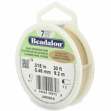 """Beadalon 7 Strand SILVER GOLD .018"""" Flex Beading Wire - 30ft or 100ft Spools"""