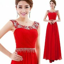 L54 Fashion New Red Formal Wedding Prom Party Bridesmaid Evening Ball Gown Dress