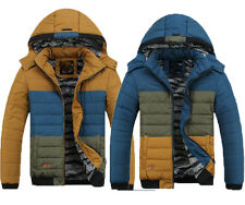 New Mens Thick Down Jacket Winter Coat Warm Hooded Parka classic military jacket