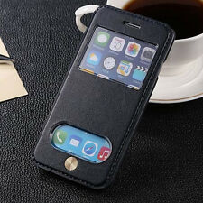Premium Leather Sheepskin Flip Stand Case Cover For Samsung Galaxy iPhone