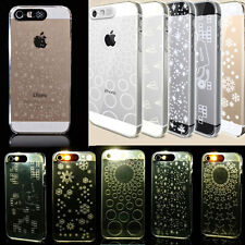 Creative Design Sense Flash Up Light LED Clear Case Cover For iPhone 4 4S 5 5S