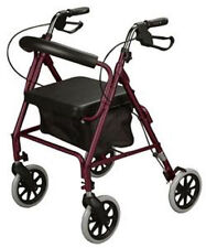 Cardinal Health Rollator Walker w/ Medical Curved Back, Soft Seat, 300 lb cap