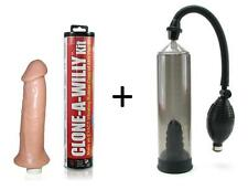 Clone-A-Willy Vibrator Kit Penis Mold + Precision Pump W Erection Enhancer Ring
