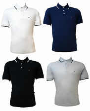 GENUINE MEN'S TOMMY HILFIGER GOLF POLO'S - 4 COLOURS AVAILABLE (TM416)
