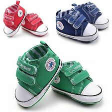 BABY ALL STAR SHOES GREEN/BLUE 0-6, 6-12, 12-18 MONTHS SIZE 2,3,4 LIKE CONVERSE