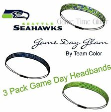 LOT of 3 Seattle Seahawks Team Color Womens Rhinestone Headbands Wear w Jersey